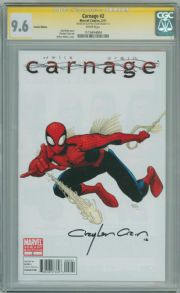 Carnage #2 Art Adams Retail Variant CGC 9.6 Signature Series Signed Clayton Crain Marvel comic book